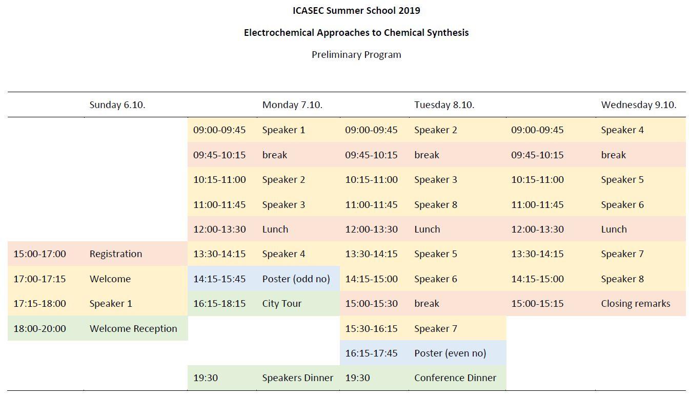 PreliminaryScheduleSummerSchool2019